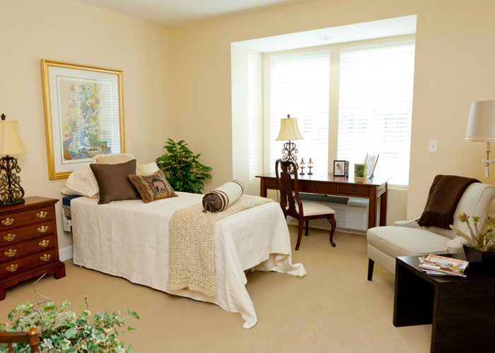 Hawthorne Assisted Living room at Hoosier Village