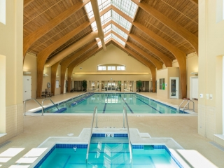 Indoor pool at Hoosier Village