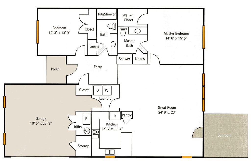 Spindle Tree Floor Plan at Hoosier Village