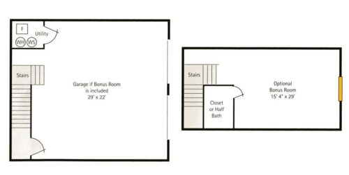 Hoosier Village Woodside A - Bonus Room Floorplan