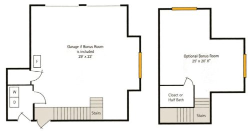 Hoosier Village Woodside B - Bonus Room Floorplan