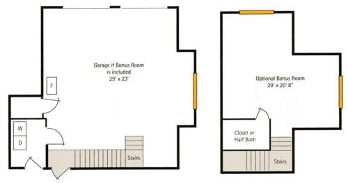 Hoosier Village Woodside B - Bonus Room Floorplan