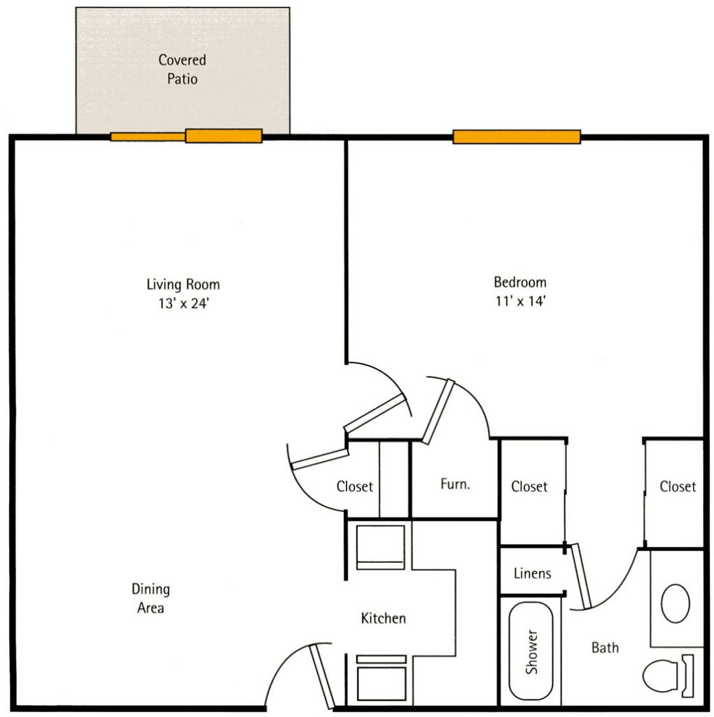 Deercrest Hall 1 bedroom Apartment