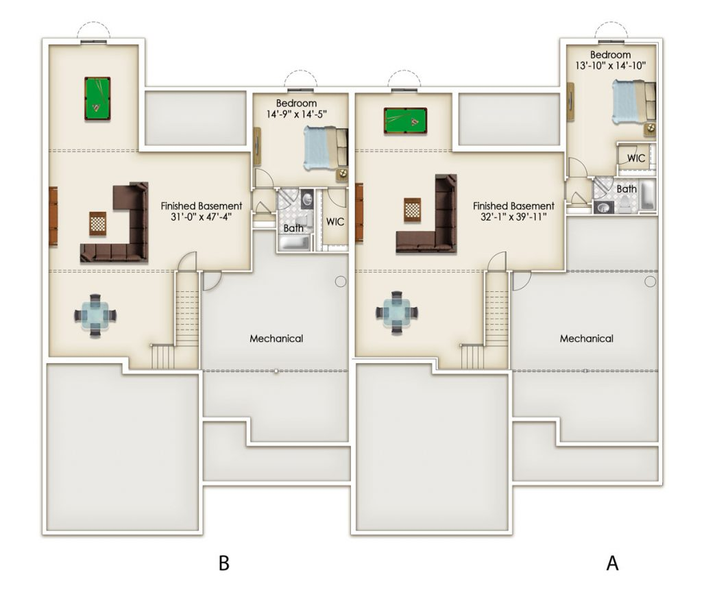 Oaks Optional Lower Level Floor Plan
