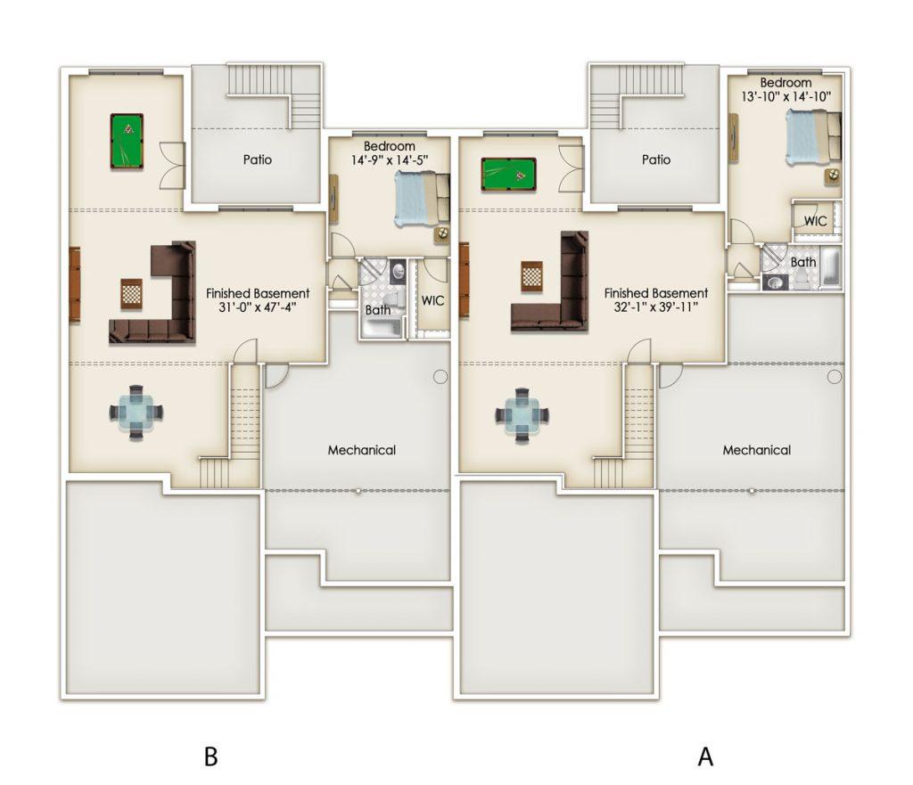 Oaks Optional Lower Level Floor Plan