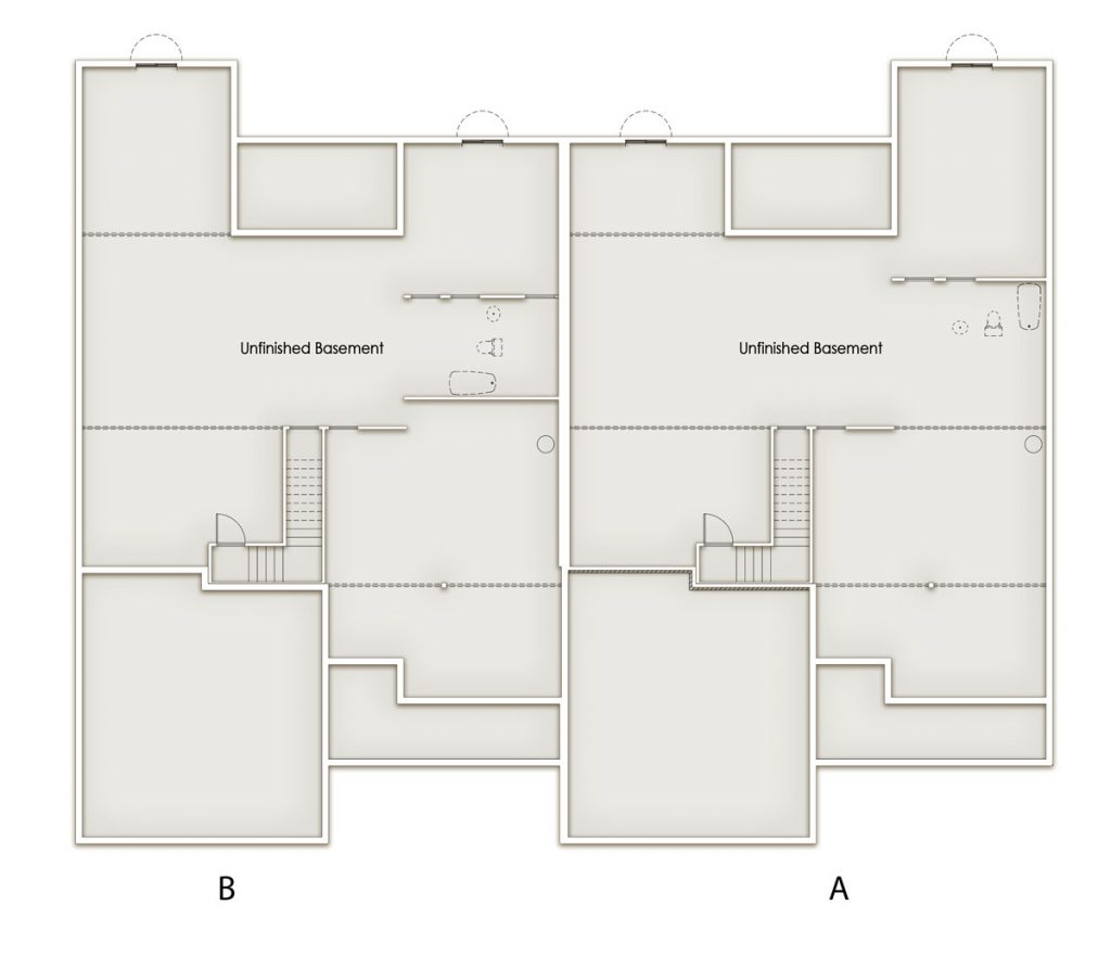 Oaks Standard Lower Level Floor Plan