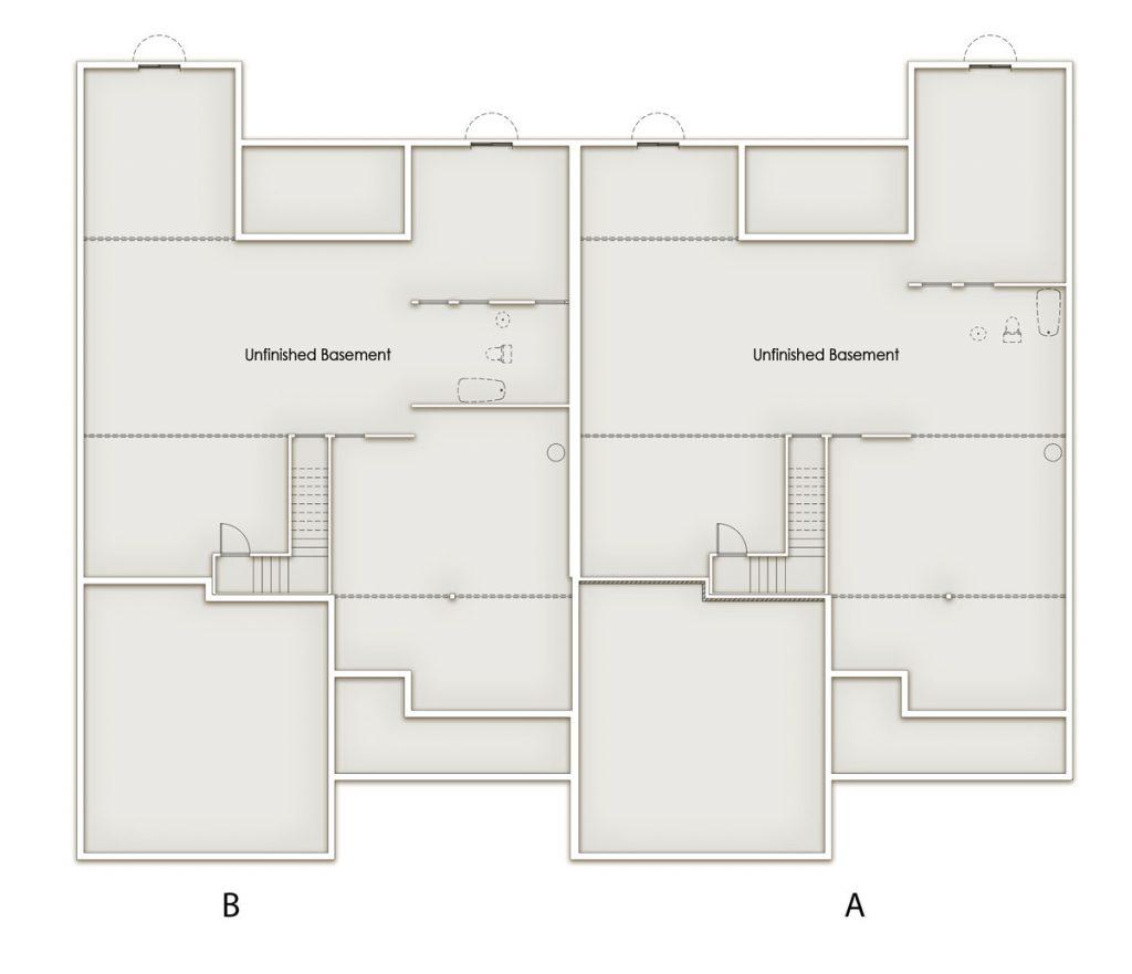 Oaks Standard Lower Level Floor Plan