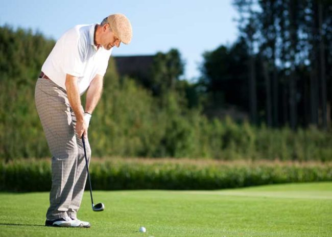 Golfing at Hoosier Village