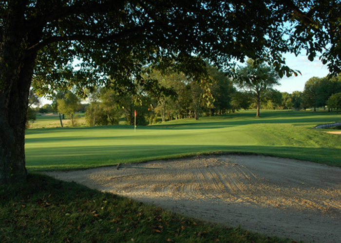 Sand trap at The Gold Club of Indiana