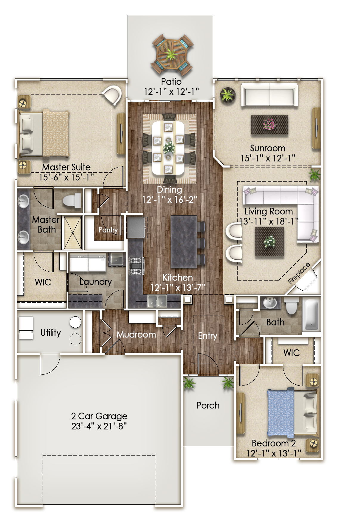 Spindle Tree Floor Plan at Hoosier Village