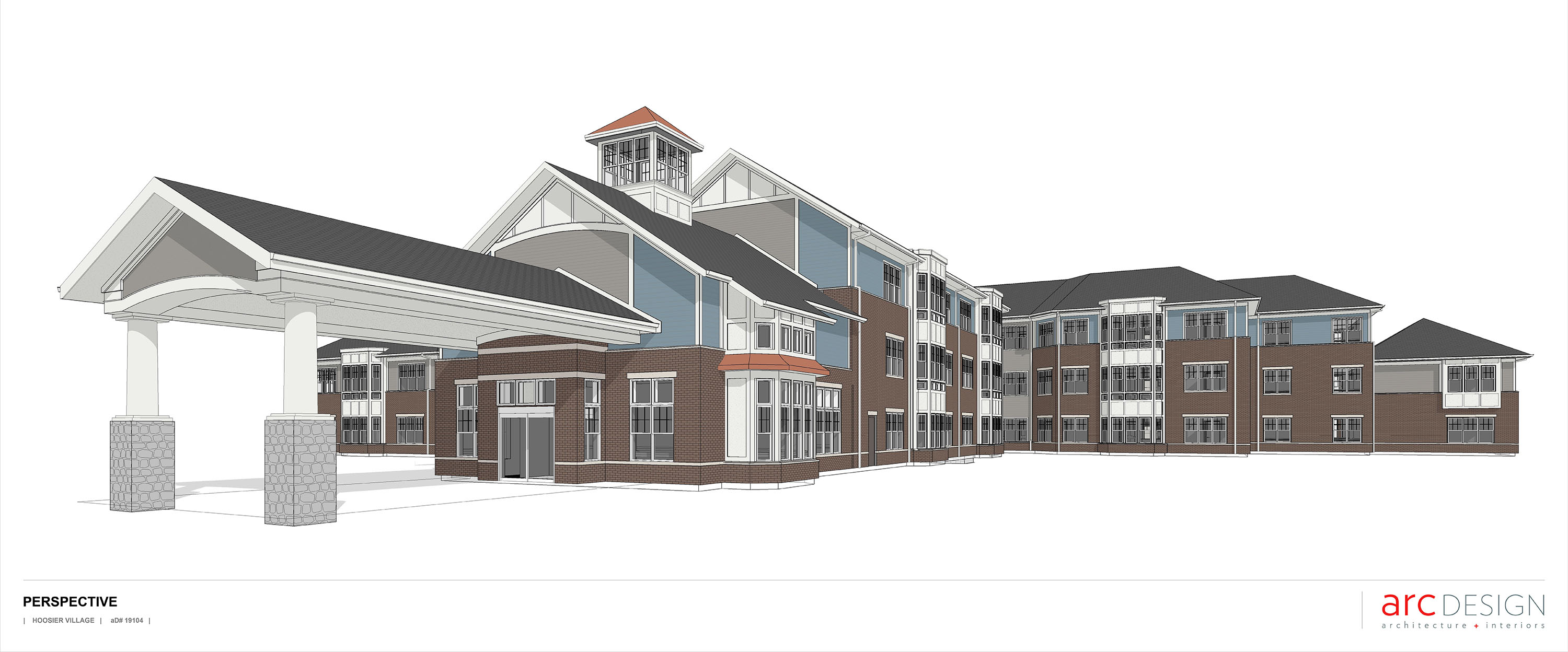 Digital rendition of The Cedarwood addition that is currently under construction