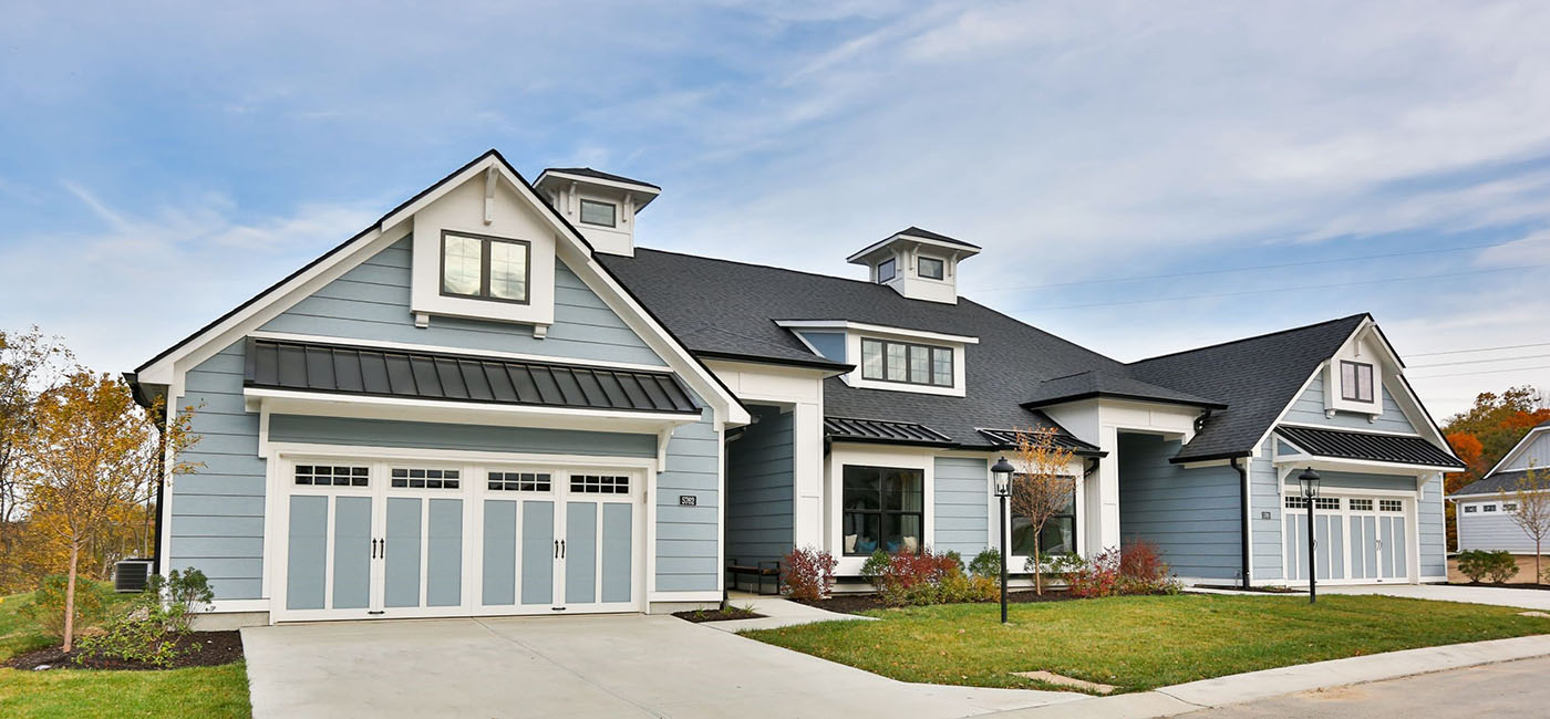 Front view of the Poplar Chase model home