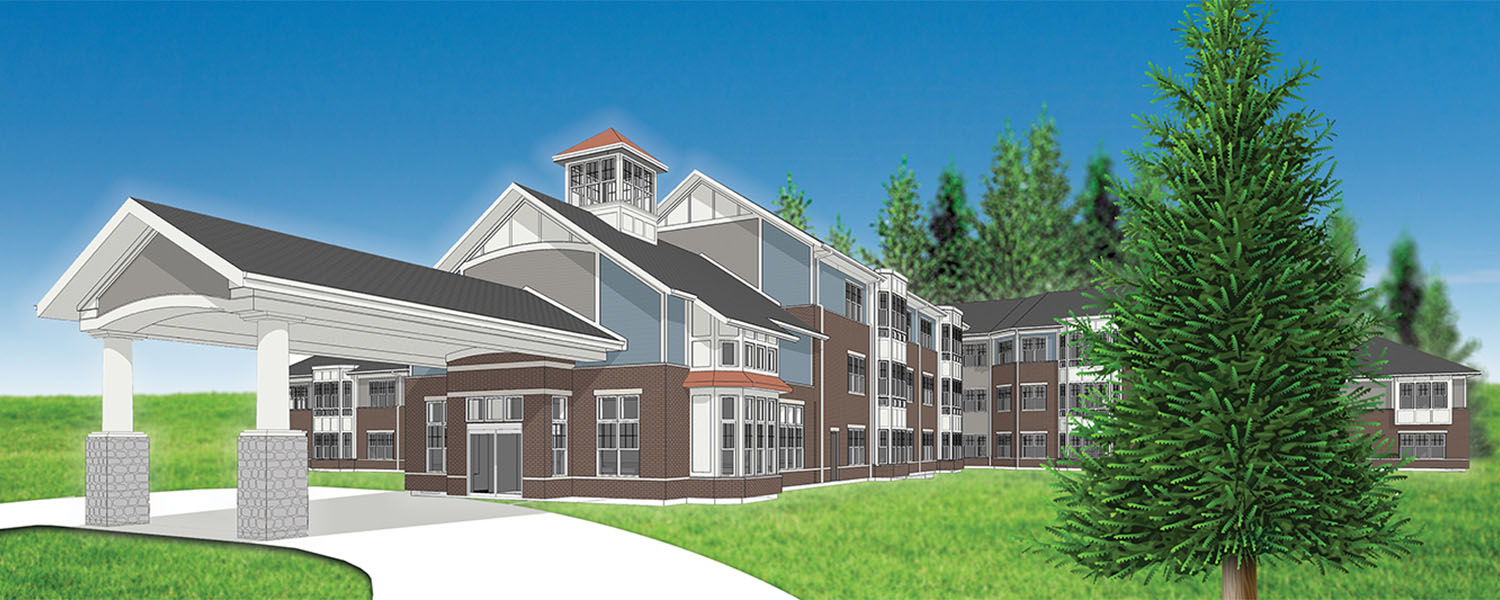 Rendering of the Cedarwood building that is currently under construction