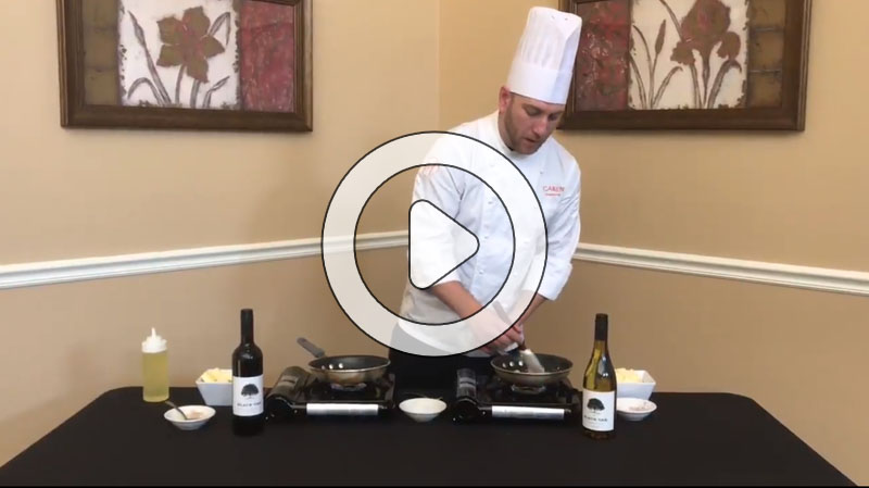 The Four Seasons' Executive Chef Camden explains how to make beurre blanc and beurre rouge sauces.
