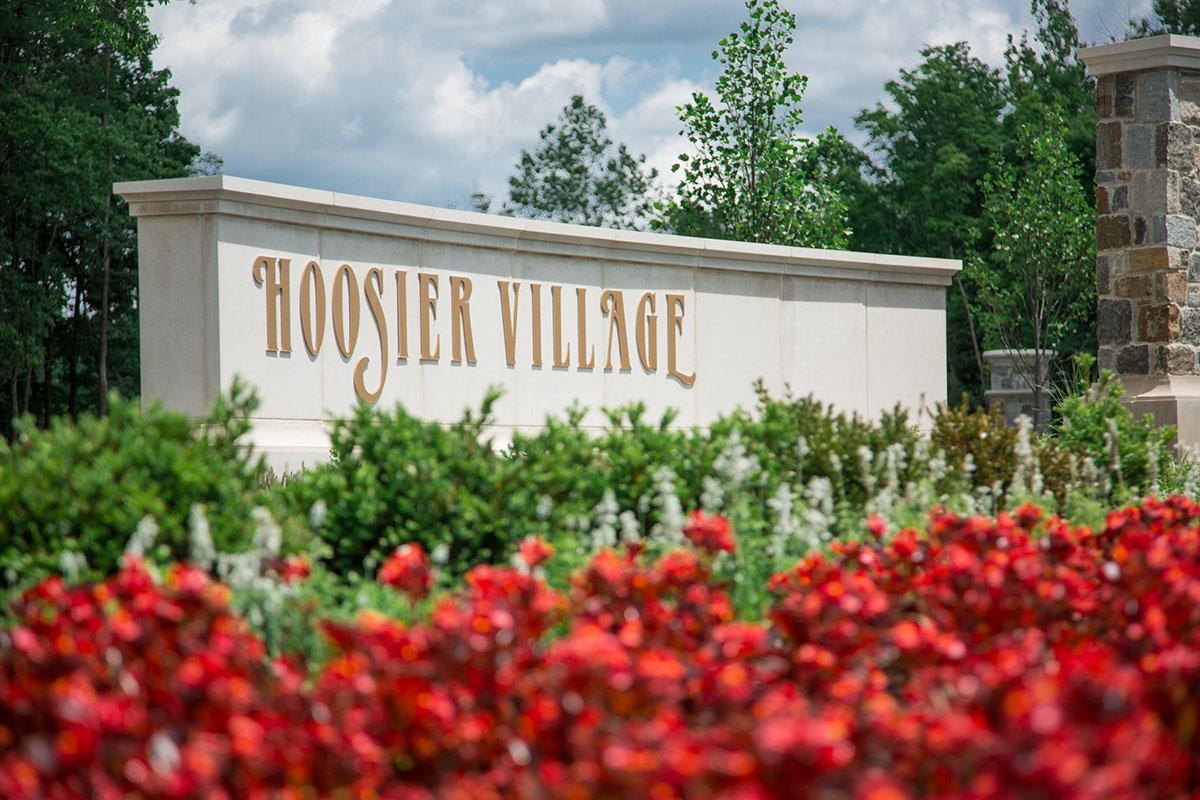 Hoosier Village street sign
