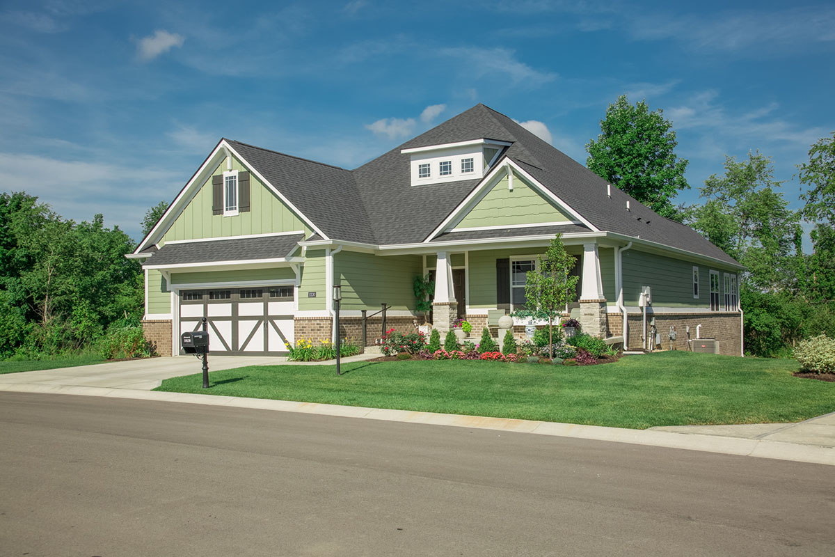 Front view of Oaks single family home