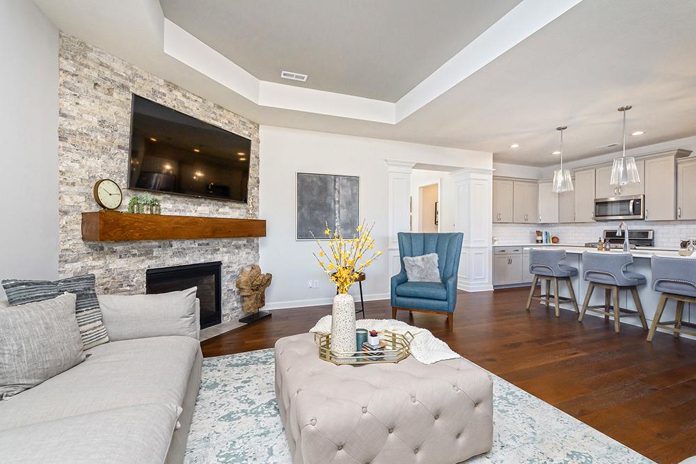 Poplar Chase duplex living room
