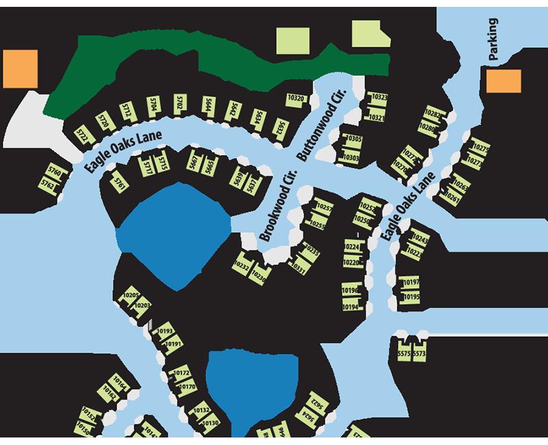 Map of Hoosier Village focused on the Poplar Chase neighborhood