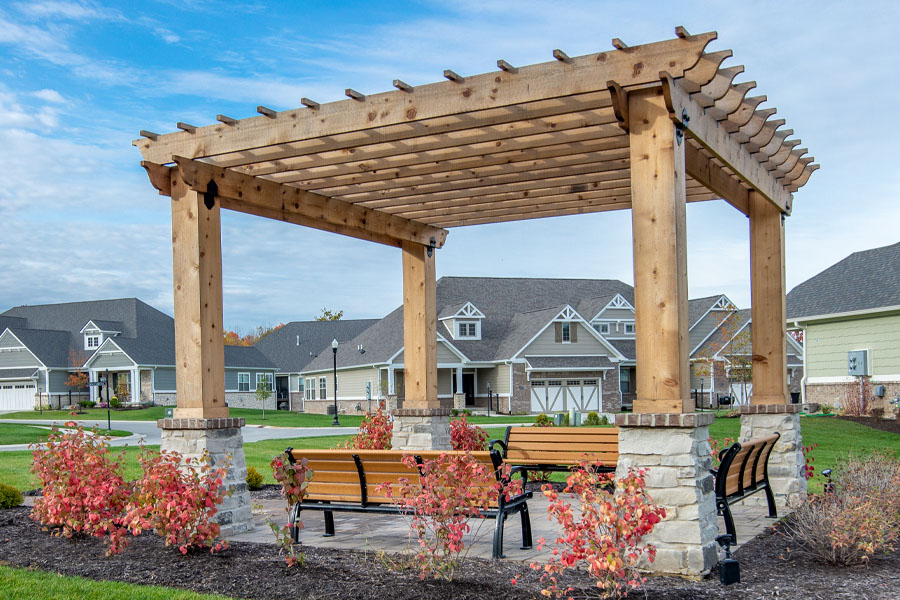 Pergola at Hoosier Village